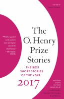 The O. Henry Prize Stories 2017