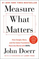 Measure What Matters