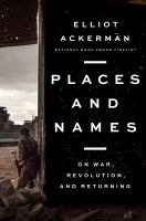 Cover of Places and Names: On War,