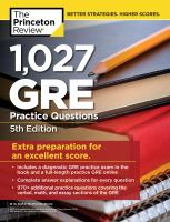 1,027 GRE Practice Questions