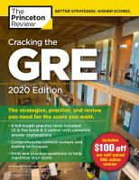Cracking the GRE 2020