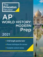 AP World History, Modern Prep