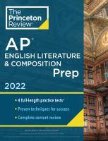 AP English Literature & Composition Prep 2022