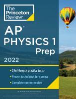 AP Physics 1 Prep