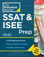 Princeton Review Ssat & Isee Prep, 2022