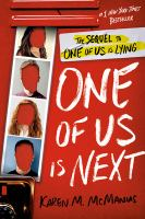 Cover of One of Us Is Next