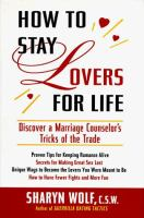 How to Stay Lovers for Life