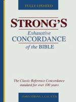 Strong's New Exhaustive Concordance of the Bible