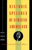 Historic Speeches of African Americans