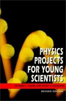 Physics Projects for Young Scientists