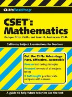 Cliffstestprep Cset Mathematics