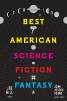 The Best American Science Fiction and Fantasy, 2015
