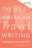 The Best American Travel Writing 2015