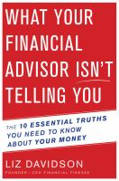 What your Financial Advisor Isn't Telling You