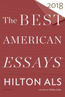 The Best American Essays, 2018