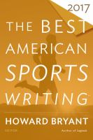 The Best American Sports Writing 2017