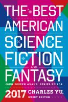 The Best American Science Fiction and Fantasy, 2017