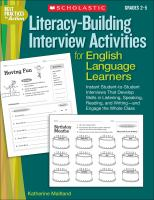 Literacy-building Interview Activities for English-language Learners