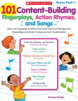 101 Content-building Fingerplays, Action Rhymes, and Songs