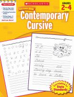 Scholastic Success With Contemporary Cursive