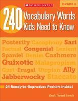 240 Vocabulary Words Kids Need to Know