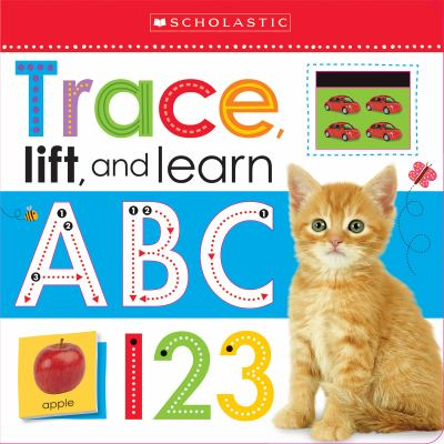 """Book Cover - Trace, lift, and learn : ABC 123 """" title=""""View this item in the library catalogue"""