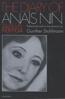 The Diary of Anais Nin Volume 1 1931-1934