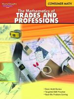 The Mathematics of Trades and Professions