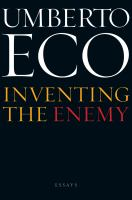 Inventing the Enemy and Other Occasional Writings