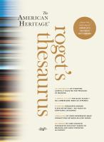 The American Heritage Roget's Thesaurus