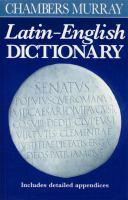 Chambers/Murray Latin-English Dictionary
