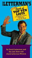 David Letterman's New Book of Top Ten Lists and Wedding Dress Patterns for the Husky Bride