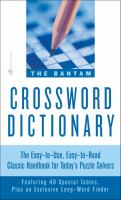 The Bantam Crossword Dictionary