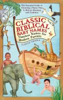 Classic Biblical Baby Names