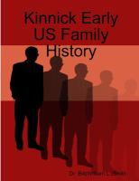 Kinnick Early US Family History