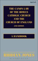 Canon Law of the Roman Catholic Church and the Church of England