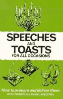 Speeches And Toasts For All Occasions