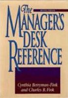 The Manager's Desk Reference