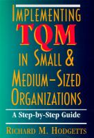 Implementing TQM In Small & Medium-sized Organizations