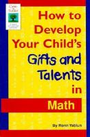 How to Develop Your Child's Gifts and Talents in Math