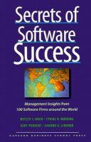 Secrets Of Software Success
