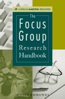 The Focus Group Research Handbook