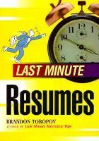 Last Minute Resumes