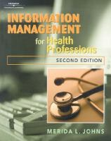 Information Management for Health Professions