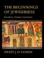 The Beginnings of Jewishness