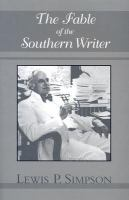 The Fable of the Southern Writer