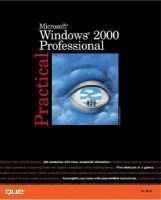 Practical Microsoft Windows 2000 Professional