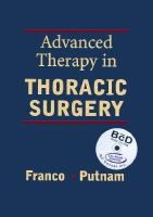 Advanced Therapy in Thoracic Surgery