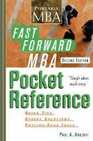 Fast Forward MBA Pocket Reference (fast Forward MBA Series)