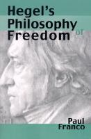 Hegel's Philosophy of Freedom